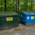 Both trash and recycling are provided.- Big Rock Campground
