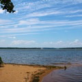 A small beach on Belmont Bay.- Mason Neck State Park