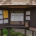 Campground information kiosk.- Fourth Iron Campsites