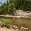 Great swimming spot on the beach.- Fourth Iron Campsites