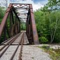 Iron railroad bridge that spans over Sawyer Creek.- Fourth Iron Campsites