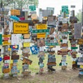 It's amazing how far some people have come to get here.- Sign Post Forest