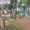 There are way more signs than you can see in one visit.- Sign Post Forest