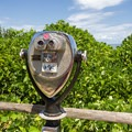 Coin-operated binoculars.- Cape Henry Lighthouse