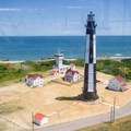 A view of the new Cape Henry lighthouse.- Cape Henry Lighthouse