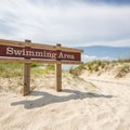 The entrance to the main swimming beach.- Kiptopeke State Park