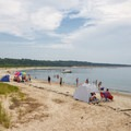 A view of the other side of the beach.- Kiptopeke State Park