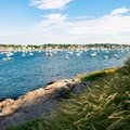 Ocean views abound at Fort Sewall.- Fort Sewall
