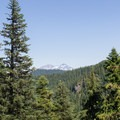 The Three Sisters can be seen in the distance.- Lowder Mountain via Upper Trailhead