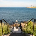 Steps to the sea at Fort Sewall.- Fort Sewall