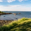 Looking out at sea at Fort Sewall.- Fort Sewall
