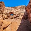 One of the windows from inside the Wupatki Pueblo.- Wupatki National Monument