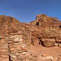 Panorama of a section of the Wupatki Pueblo.- Wupatki National Monument