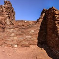 Part of the wall of Wupatki Pueblo.- Wupatki National Monument