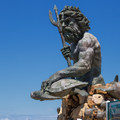 A statue of King Neptune.- Virginia Beach