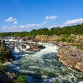 View from the falls overlook 2.- Great Falls Park