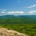 The view from Cobble Lookout toward the High Peaks region.- Cobble Lookout