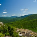 Looking out into the Adirondacks.- Cobble Lookout