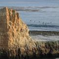 Shoreline haystacks off of Three Mile Beach.- Three Mile Beach