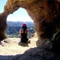 Cool rock formation at Eagle Rock.- Santa Ynez Canyon Trail to Eagle Rock