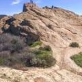 Eagle Rock.- Santa Ynez Canyon Trail to Eagle Rock