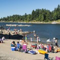 The beach on the Willamette River at George Rogers Park in Lake Oswego.- George Rogers Park Beach