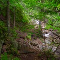 The first and largest waterfall lies down this spur trail.- Stag Brook Trail