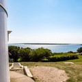 View of the ocean from the Nobska Lighthouse.- Nobska Point Lighthouse