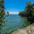 Lake Michigan from Cave Point County Park.- Cave Point County Park