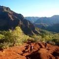 Hiking back up the Kukui Trail at 8:00 a.m.- Lonomea via the Kukui Trail