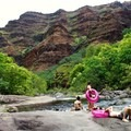 The rocks are free of bugs in the mosquito months.- Lonomea via the Kukui Trail