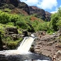 The first and largest falls at the campsite.- Lonomea via the Kukui Trail
