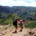 Hiking down the Kukui Trail. - Lonomea via the Kukui Trail