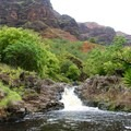 The smaller falls at the campsite.- Lonomea via the Kukui Trail
