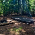 One of the Saywer Pond Campsites.- Sawyer Pond Campsites
