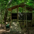 Open-air composting toilet. Don't forget your own toilet paper.- Sawyer Pond Campsites