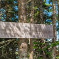 Sign at the summit.- Mount Tecumseh