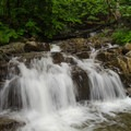 Another 4-foot waterfall just past the top of the main falls.- Stag Brook Trail