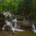 It's waterfall after waterfall on this trail.- Stag Brook Trail