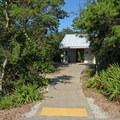 Restrooms at Henderson Beach State Park Campground.- Henderson Beach State Park Campground