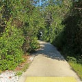 The walking path to the restrooms- Henderson Beach State Park Campground