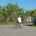 Bikes are a great way to get around in this large campground.- Henderson Beach State Park Campground