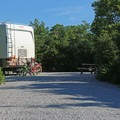 A large RV site in Henderson Beach State Park Campground.- Henderson Beach State Park Campground