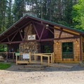 The High Peaks Information Center has restrooms, a store and workers on hand to help campers and hikers.- Heart Lake Campground