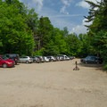 One of three branches of the hiker parking lot. Parking here is for hikers who want to venture out onto the trails.- Heart Lake Campground