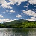 The MacIntyre Range as seen across the lake.- Heart Lake Campground