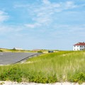 Some of the parking at Race Point Beach.- Race Point Beach
