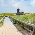 Path to the Life Saving Station.- Race Point Beach