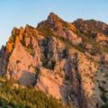Close-up of Shirttail Peak.- Eldorado Mountain