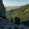 Looking back down.- Eldorado Mountain